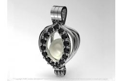 My Peerless Pearl Pendant with Black Swarovski