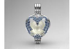 Sapphire Butterfly Pendant