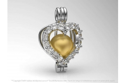The Heart of  the Ocean Pendant with Yellow South Sea Pearl